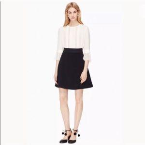 Kate Spade Black Flip A Line Skirt 00